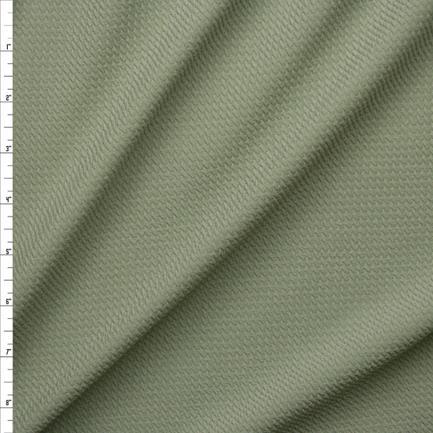 Sage Green Solid Braided Look Liverpool Knit Fabric By The Yard