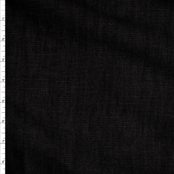 Black 10 oz Designer Denim Fabric By The Yard