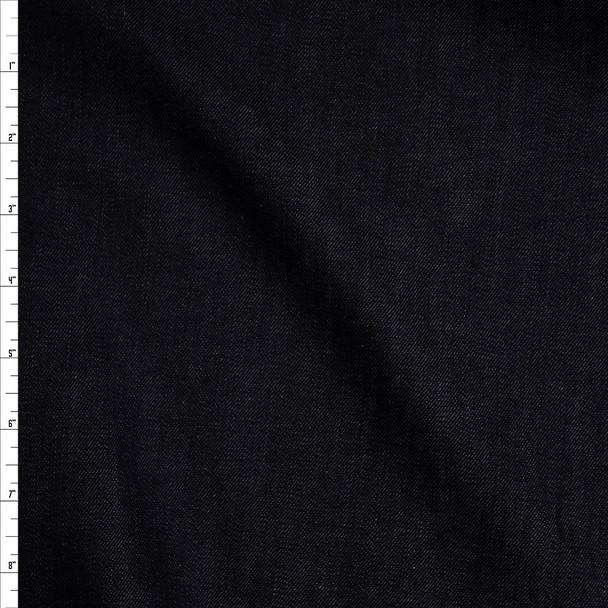 Dark Blue 8 oz Designer Stretch Denim Fabric By The Yard