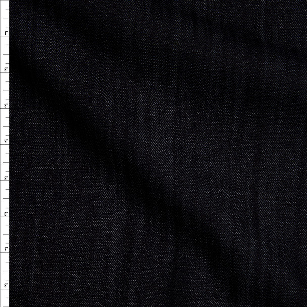 Indigo Blue 9 oz Textured Designer Stretch Denim Fabric By The Yard