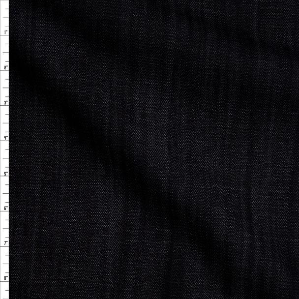 Indigo Blue 9 oz Textured Designer Stretch Denim Fabric By The Yard