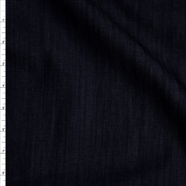 Indigo Blue 8 oz Textured Designer Stretch Denim Fabric By The Yard