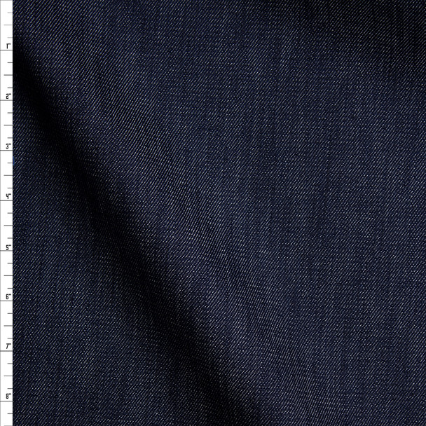 Blue 10 oz Textured Designer Stretch Denim Fabric By The Yard