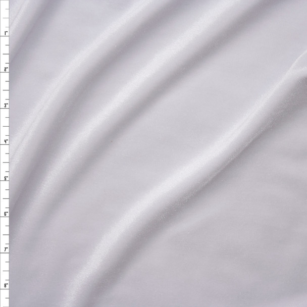 White 4-way Stretch Velvet Fabric By The Yard