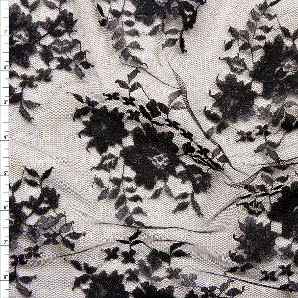 Black Chantilly Lace Fabric By The Yard