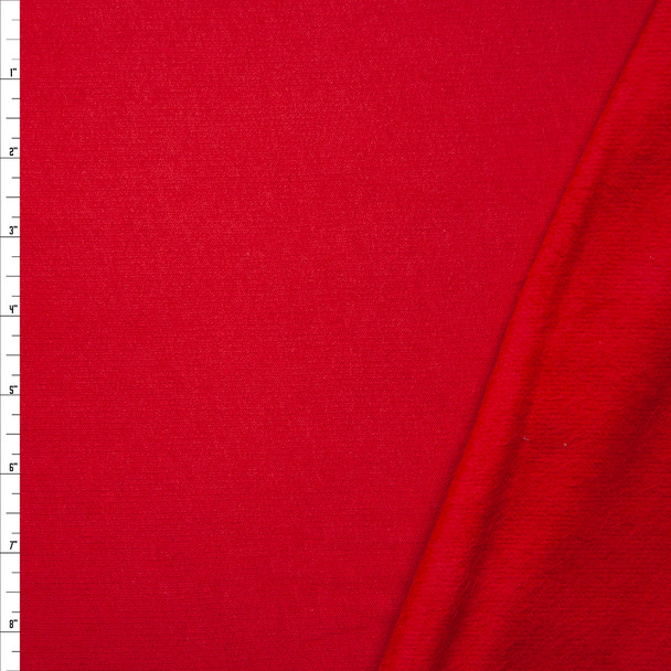 Red Light Midweight Sweatshirt Fleece Fabric By The Yard