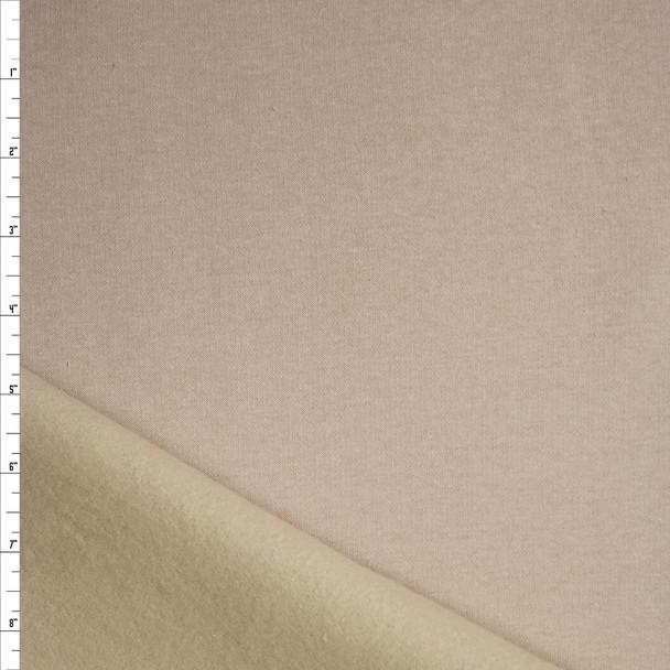Cream Heavy Sweatshirt Fleece Fabric By The Yard