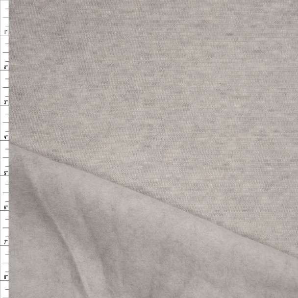 Oatmeal Grey Midweight Sweatshirt Fleece Fabric By The Yard