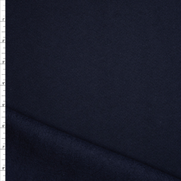 Navy Blue Heavyweight Sweatshirt Fleece Fabric By The Yard