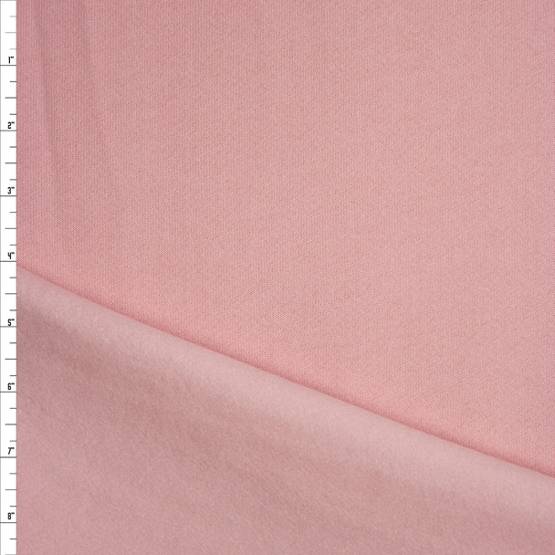 Light Pink Midweight Sweatshirt Fleece Fabric By The Yard