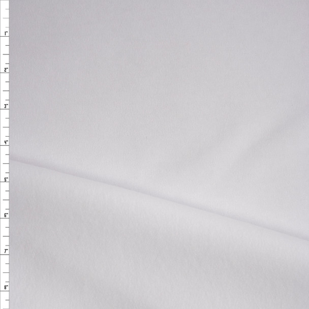 White Heavyweight Sweatshirt Fleece Fabric By The Yard