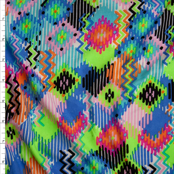 Multi Colored Southwestern Inspired Double Brushed Poly Spandex Fabric By The Yard