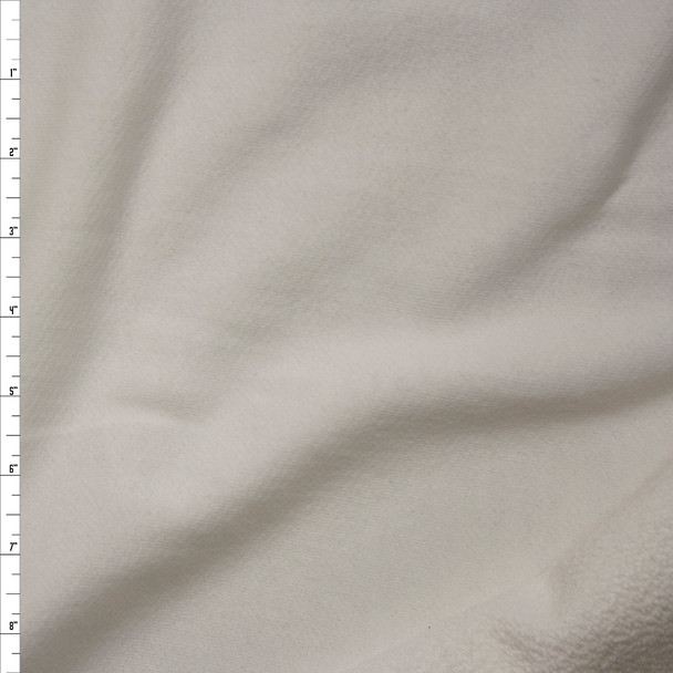 Warm White Midweight Rayon French Terry Fabric By The Yard