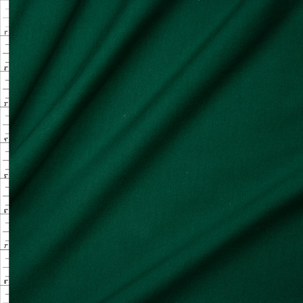 Hunter Green Premium Midweight Cotton Lycra Jersey Knit