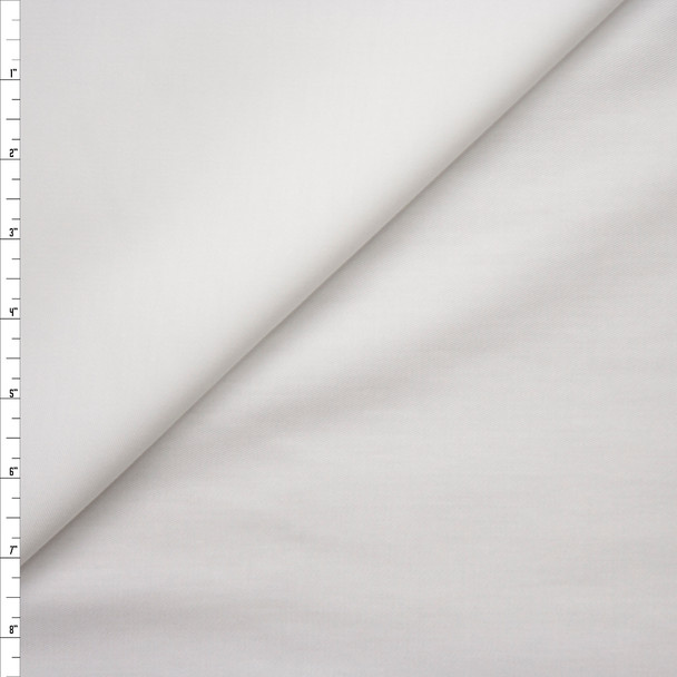 White Lightweight Cotton Twill Fabric By The Yard
