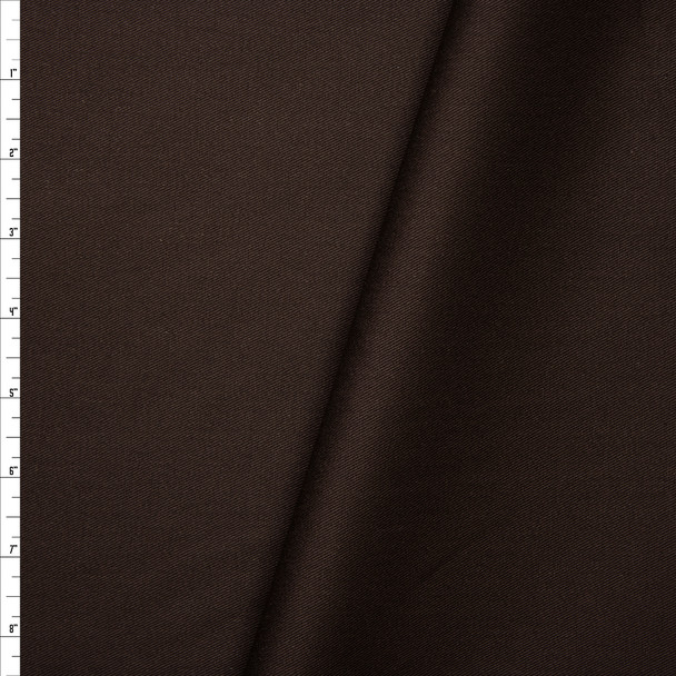 Solid Dark Brown Midweight Cotton Twill Fabric By The Yard