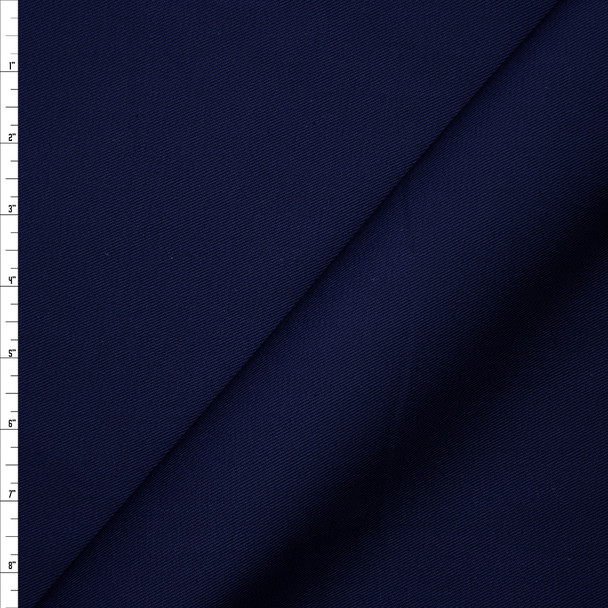 Solid Navy Blue Midweight Cotton Twill Fabric By The Yard