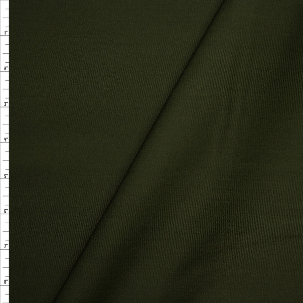 Solid Forest Green Midweight Cotton Twill Fabric By The Yard