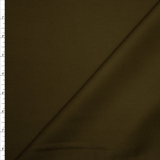 Solid Olive Green Midweight Cotton Twill Fabric By The Yard