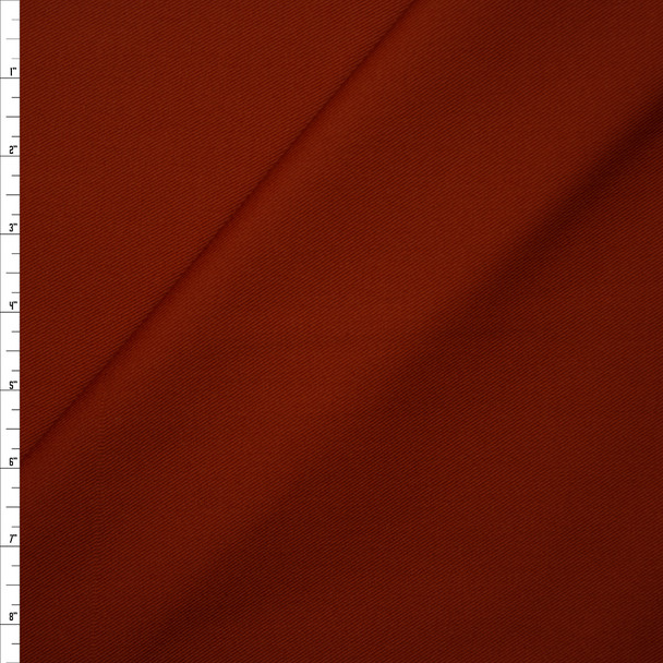 Solid Burnt Orange Midweight Cotton Twill Fabric By The Yard