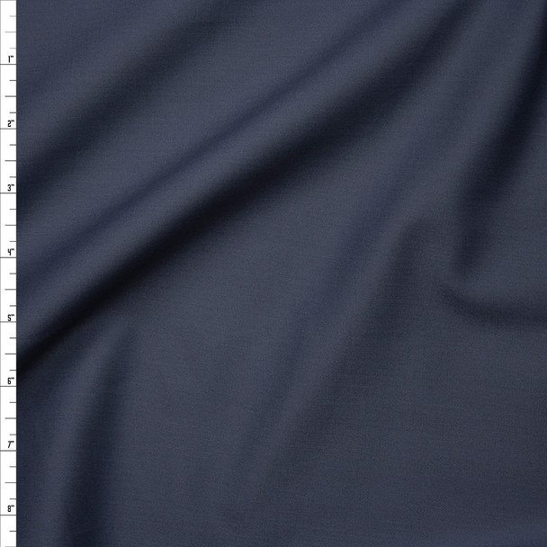 Dark Grey Stretch Lightweight Poly/Cotton Twill Fabric By The Yard