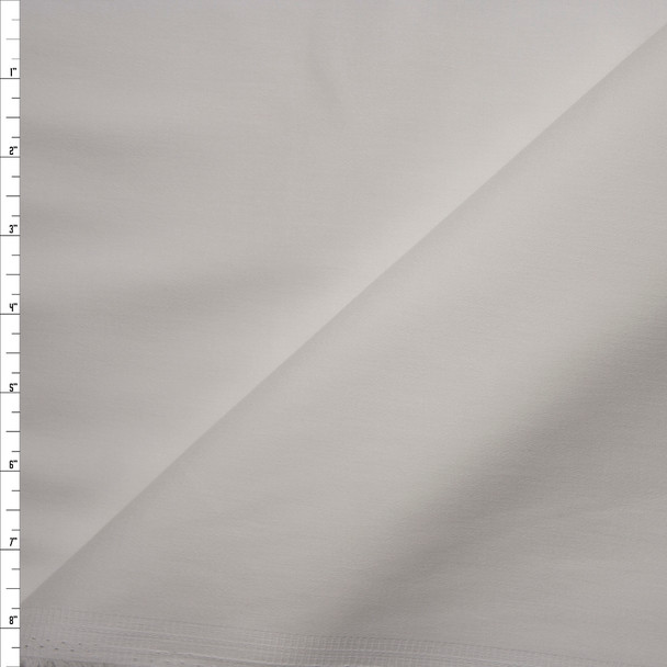 White Stretch Midweight Cotton Sateen Fabric By The Yard