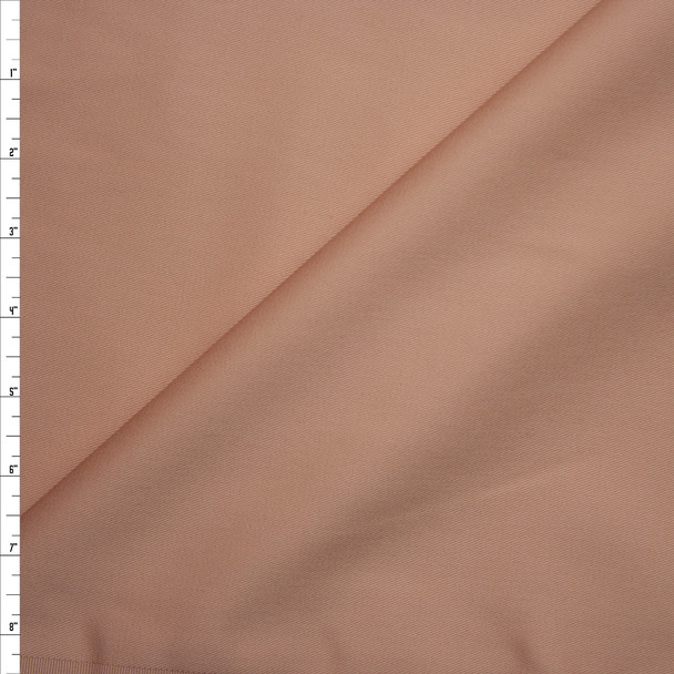 Peach Midweight Stretch Twill from 'Theory' Fabric By The Yard