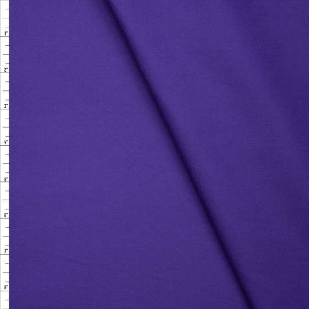 Purple Stretch Lightweight Poly/Cotton Twill Fabric By The Yard