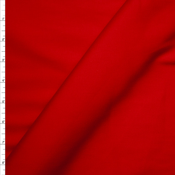 Red Stretch Midweight Cotton Sateen Fabric By The Yard