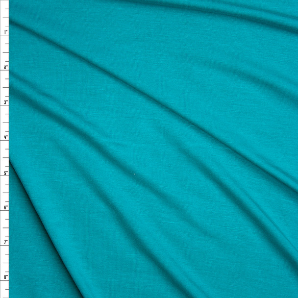 Aqua Stretch Modal Jersey Knit Fabric By The Yard