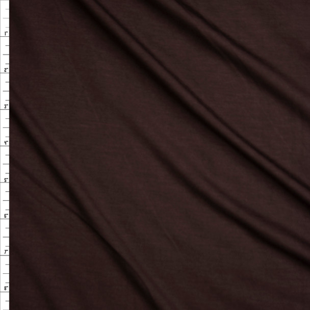 Brown Stretch Modal Jersey Knit Fabric By The Yard