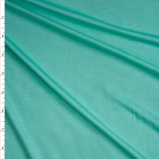 Mint Green Stretch Modal Jersey Knit Fabric By The Yard