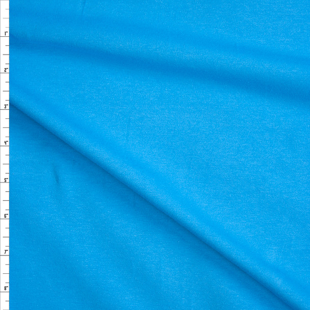 Turquoise Stretch Midweight Cotton Jersey Knit Fabric By The Yard