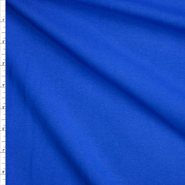 Royal Blue Stretch Midweight Cotton Jersey Knit Fabric By The Yard