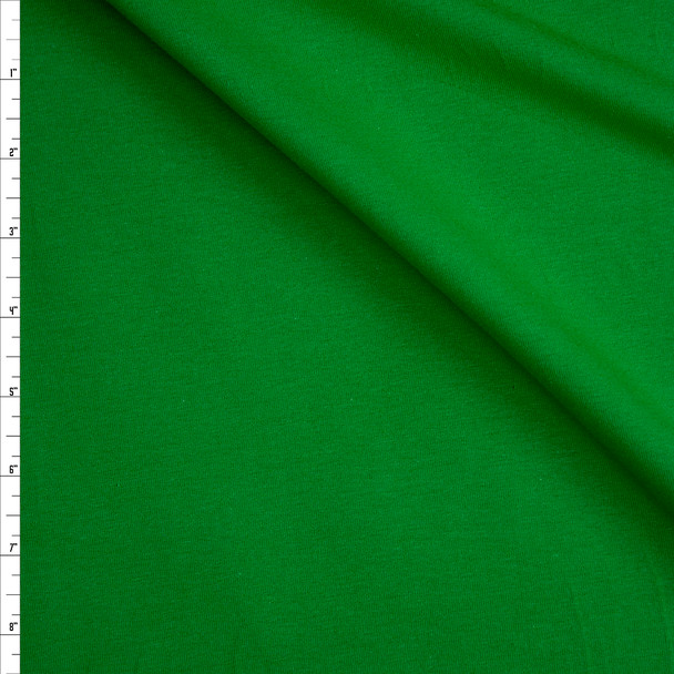 Bright Green Stretch Midweight Cotton Jersey Knit Fabric By The Yard