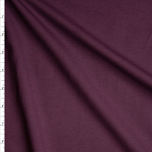 Plum Stretch Midweight Cotton Jersey Knit Fabric By The Yard