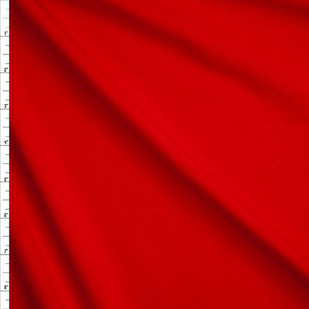 Red Stretch Midweight Cotton Jersey Knit Fabric By The Yard