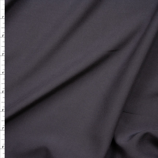 Charcoal Grey Rayon Challis Fabric By The Yard