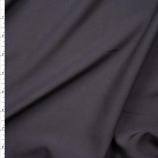 Charcoal Grey Rayon Challis Fabric By The Yard