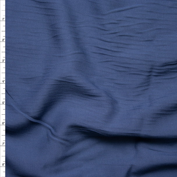 Slate Blue Rayon Challis Fabric By The Yard