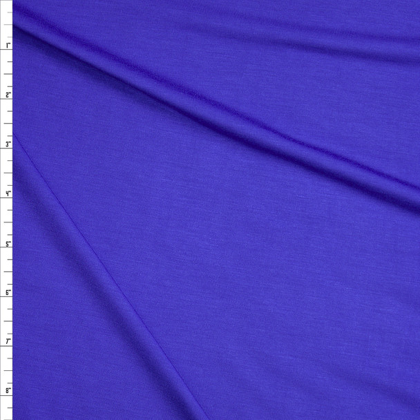 Royal Blue Stretch Modal Jersey Knit Fabric By The Yard