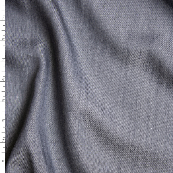 Light Grey Midweight Tencel Denim Fabric By The Yard
