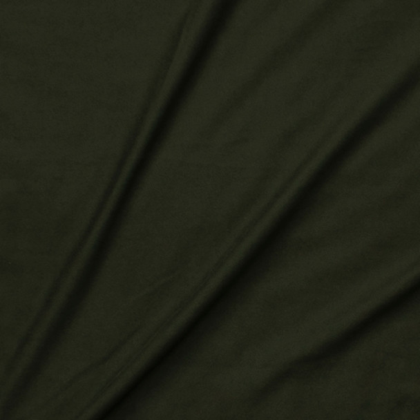 Dark Olive Double Brushed Poly/Spandex Fabric By The Yard