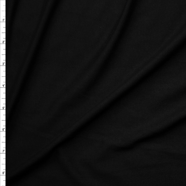 Black Midweight Double Brushed Poly/Spandex Fabric By The Yard
