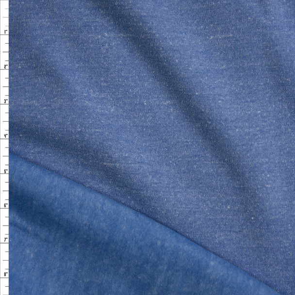 Soft Blue Heather Sweatshirt Fleece Fabric By The Yard