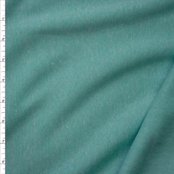 Soft Mint Green Heather Sweatshirt Fleece Fabric By The Yard