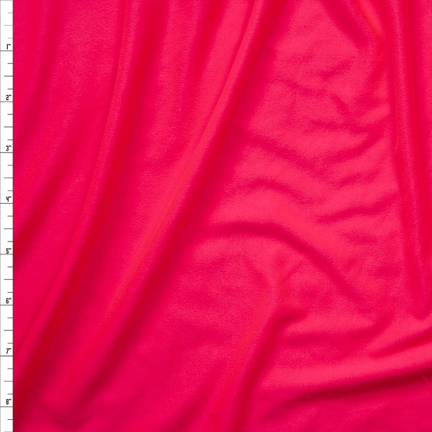 Neon Pink Double Brushed Poly Spandex Knit Fabric By The Yard
