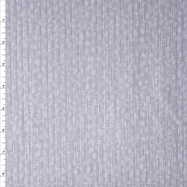 Pale Grey Spots on Light Grey 'Tutti Frutti' Plissé Fabric By The Yard