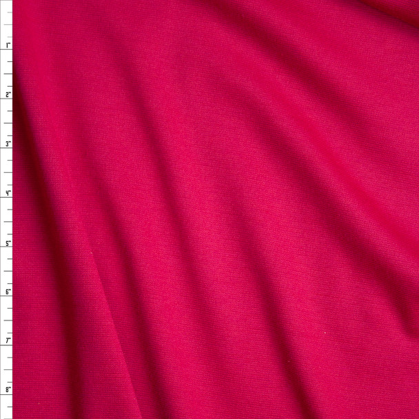 Hot Pink Solid Ponte De Roma Fabric By The Yard