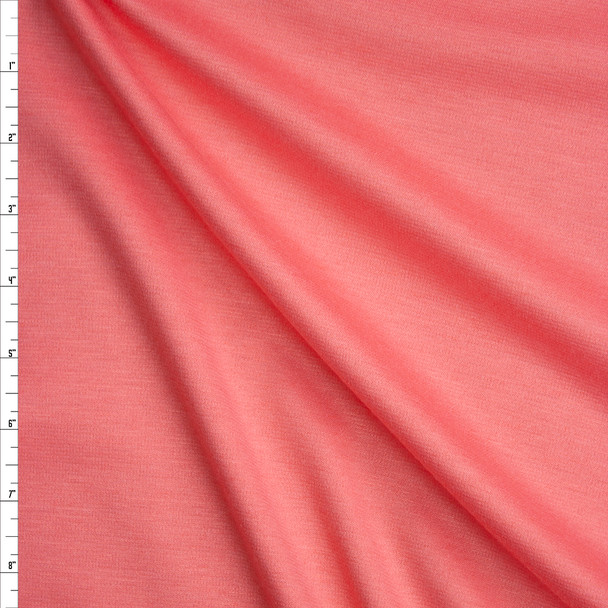 Peachy Pink Solid Ponte De Roma Fabric By The Yard